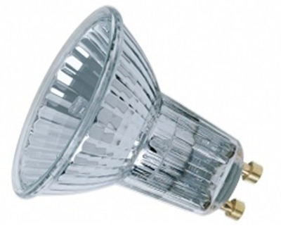 This is a 50 W GU10 Reflector/Spotlight bulb that produces a Very Warm White (827) light which can be used in domestic and commercial applications