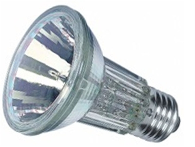 This is a 50 W 26-27mm ES/E27 bulb that produces a Warm White (830) light which can be used in domestic and commercial applications
