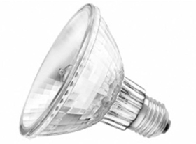 This is a 75 W 26-27mm ES/E27 Reflector/Spotlight bulb that produces a Warm White (830) light which can be used in domestic and commercial applications