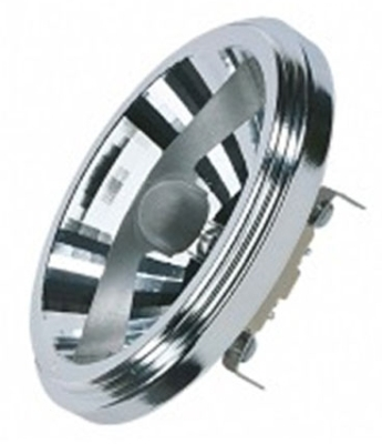 This is a 50 W G53 (53mm Apart Prongs) Reflector/Spotlight bulb that produces a Warm White (830) light which can be used in domestic and commercial applications
