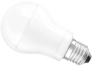 This is a 10 W 26-27mm ES/E27 Standard GLS bulb that produces a Very Warm White (827) light which can be used in domestic and commercial applications