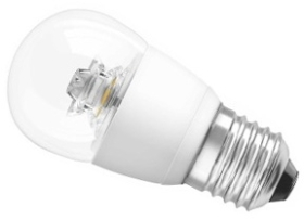 This is a 5.8 W 26-27mm ES/E27 Golfball bulb that produces a Very Warm White (827) light which can be used in domestic and commercial applications
