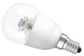 This is a 6.2 W 14mm SES/E14 Golfball bulb that produces a Very Warm White (827) light which can be used in domestic and commercial applications