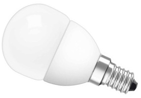 This is a 3.8 W 14mm SES/E14 Golfball bulb that produces a Very Warm White (827) light which can be used in domestic and commercial applications