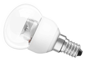 This is a 3.5 W 14mm SES/E14 Golfball bulb that produces a Very Warm White (827) light which can be used in domestic and commercial applications