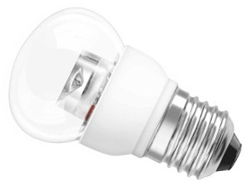 This is a 2 W 26-27mm ES/E27 Golfball bulb that produces a Very Warm White (827) light which can be used in domestic and commercial applications