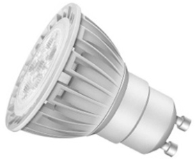 This is a 5 W GU10 Reflector/Spotlight bulb that produces a Very Warm White (827) light which can be used in domestic and commercial applications