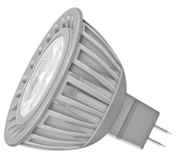 This is a 5 W GX5.3/GU5.3 Reflector/Spotlight bulb that produces a Very Warm White (827) light which can be used in domestic and commercial applications