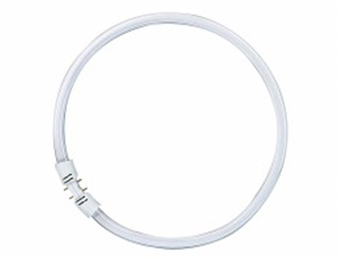 This is a 55 W 2GX13 Circular bulb that produces a Very Warm White (827) light which can be used in domestic and commercial applications