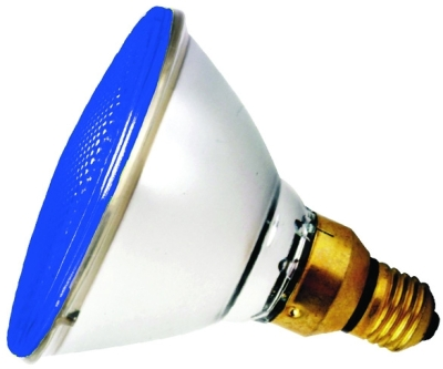 This is a 80W 26-27mm ES/E27 Reflector/Spotlight bulb that produces a Blue light which can be used in domestic and commercial applications