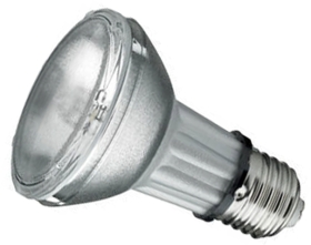 This is a 35 W 26-27mm ES/E27 bulb that produces a Warm White (830) light which can be used in domestic and commercial applications