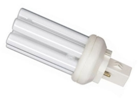 This is a 18W GX24D-2 Multi Tube bulb that produces a Warm White (830) light which can be used in domestic and commercial applications