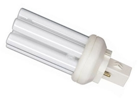 This is a 26W GX24D-3 Multi Tube bulb that produces a Warm White (830) light which can be used in domestic and commercial applications