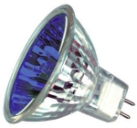 This is a Dichroic MR11 (35mm Diameter) Coloured Halogen Light Bulbs