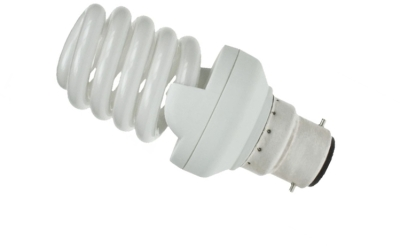 This is a 20W 22mm Ba22d/BC Spiral bulb that produces a Very Warm White (827) light which can be used in domestic and commercial applications