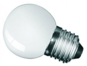 This is a 1 W Golfball bulb that produces a Daylight (860/865) light which can be used in domestic and commercial applications