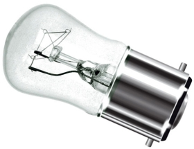 This is a 15W 22mm Ba22d/BC Pygmy bulb that produces a Clear light which can be used in domestic and commercial applications