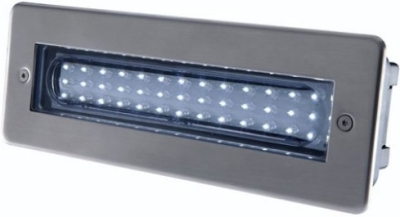 This is a Stainless Steel finish light fitting produced by Hispec