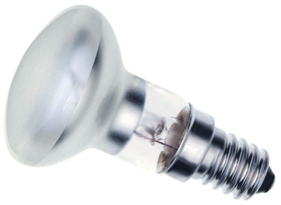 This is a 25W 14mm SES/E14 Reflector/Spotlight bulb that produces a Diffused light which can be used in domestic and commercial applications