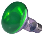 This is a 40W 26-27mm ES/E27 Reflector/Spotlight bulb that produces a Green light which can be used in domestic and commercial applications