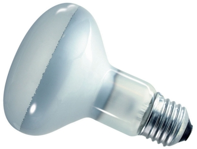 This is a 100W 26-27mm ES/E27 Reflector/Spotlight bulb that produces a Diffused light which can be used in domestic and commercial applications