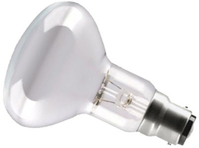 This is a 60W 22mm Ba22d/BC Reflector/Spotlight bulb that produces a Diffused light which can be used in domestic and commercial applications
