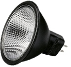 This is a 50W GX5.3/GU5.3 Reflector/Spotlight bulb that produces a Black light which can be used in domestic and commercial applications