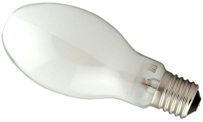 This is a 100W 39-40mm GES/E40 Eliptical bulb that produces a Sodium Orange light which can be used in domestic and commercial applications