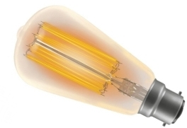 This is a 100 W 22mm Ba22d/BC Squirrel Cage bulb that produces a Very Warm White (827) light which can be used in domestic and commercial applications