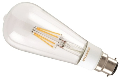 This is a 5.5 W 22mm Ba22d/BC ST64 bulb that produces a Very Warm White (827) light which can be used in domestic and commercial applications