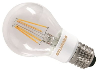 This is a 5.5 W 26-27mm ES/E27 Standard GLS bulb that produces a Very Warm White (827) light which can be used in domestic and commercial applications