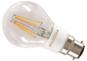 This is a 7 W 22mm Ba22d/BC Standard GLS bulb that produces a Very Warm White (827) light which can be used in domestic and commercial applications