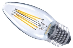 This is a 4 W 26-27mm ES/E27 Candle bulb that produces a Very Warm White (827) light which can be used in domestic and commercial applications