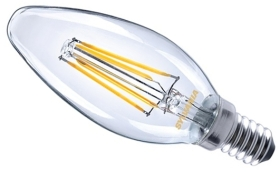 This is a 4 W Candle bulb that produces a Very Warm White (827) light which can be used in domestic and commercial applications