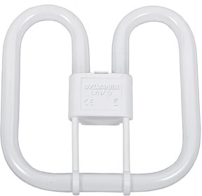 This is a 28 W GR8 Square bulb that produces a White (835) light which can be used in domestic and commercial applications