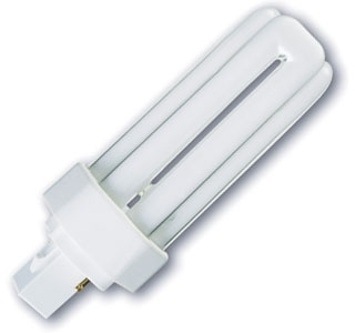 This is a 18 W GX24D-2 Multi Tube bulb that produces a Warm White (830) light which can be used in domestic and commercial applications