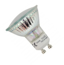 This is a 3.5W L1 (GU10) Reflector/Spotlight bulb that produces a Warm White (830) light which can be used in domestic and commercial applications