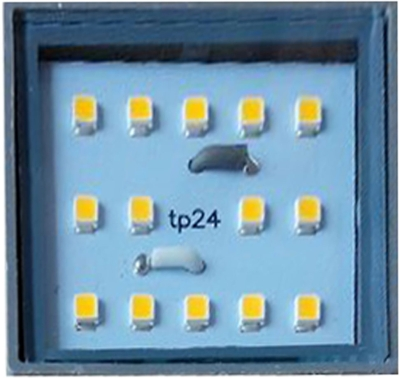 This is a 3W Square bulb that produces a Warm White (830) light which can be used in domestic and commercial applications
