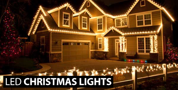 house using led fairy lights